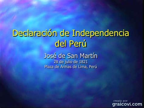Declaracion de la Independencia del Peru via PowerPoint