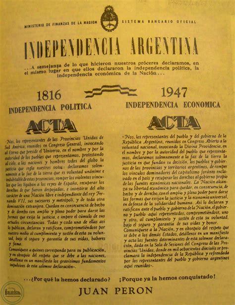 DECLARACIÓN DE LA INDEPENDENCIA ECONÓMICA – 1947 – La ...