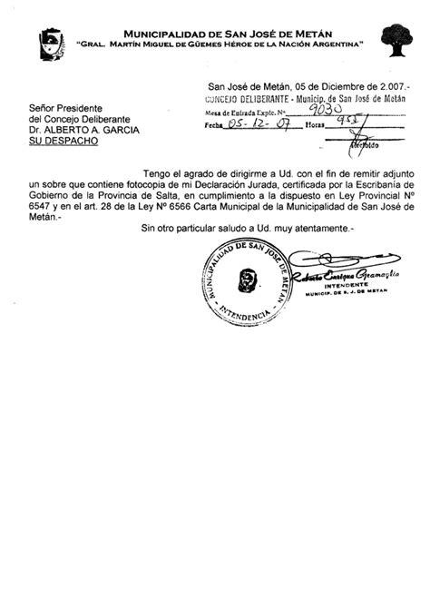 DeclaracióN Jurada De Bienes Del Intendente Municipal