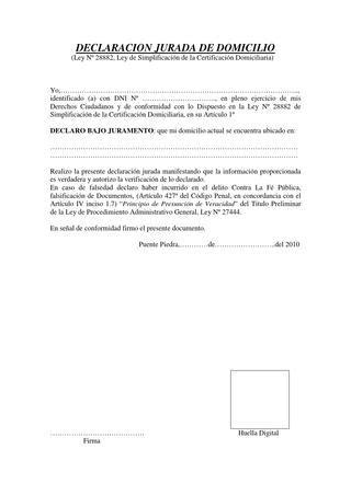 Declaracion jurada de domicilio by Franco Diego Fernandez ...