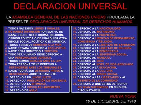 DECLARACIÓN UNIVERSAL DE DERECHOS HUMANOS | La Letra dorada
