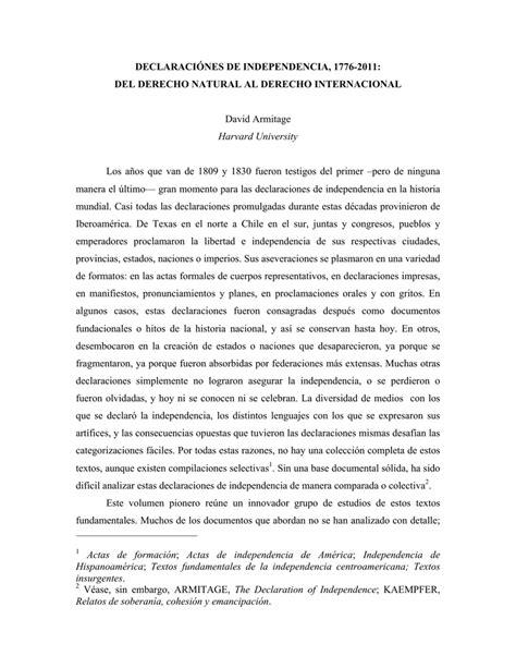 DECLARACIÓNES DE INDEPENDENCIA, 1776