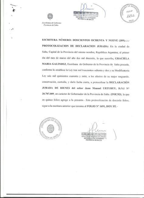 Declaraciones Juradas de Bienes de Juan Manuel Urtubey ...