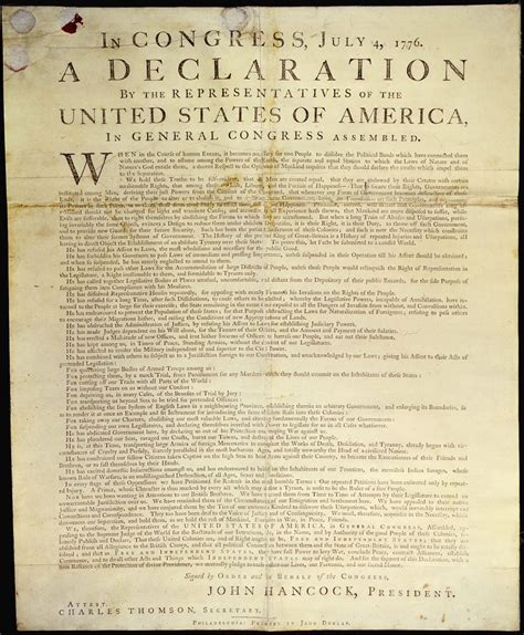 Declaration of Independence   July 4, 1776 | Teaching ...