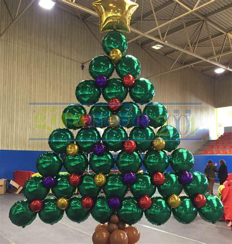 decoracion con globos arbol de navidad   Giramón : Giramón