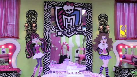 Decoracion Cumpleaños monster high   YouTube
