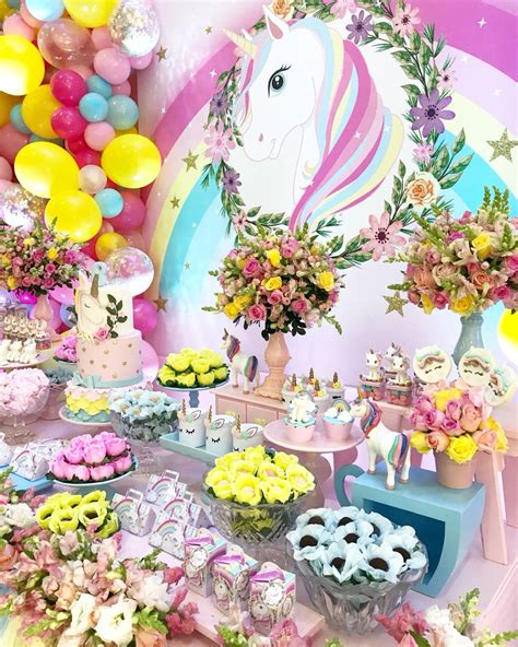 Decoración cumpleaños UNICORNIO   Decoraciones Tematicas