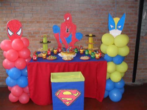 decoracion de cumpleaños: Decoraciom simple ...Mesa Spiderman