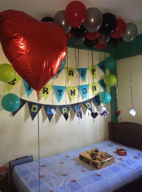 Decoracion de cumpleaños para novios … | bellas | Sorpresa ...