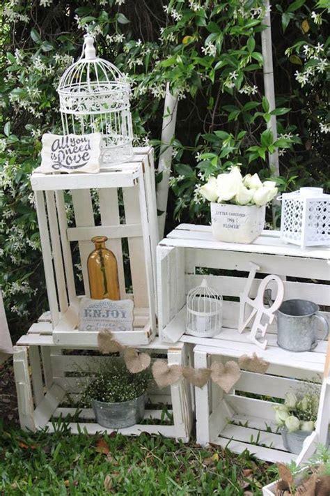 Decoración de fiesta con cajas de madera   Dale Detalles