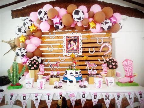Decoracion de fiesta tema de vaquera para niña | Ideas ...