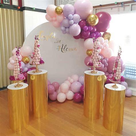 Decoración de fiestas elegantes con globos para ...