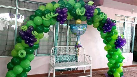 Decoracion de globos para primera comunion.   YouTube