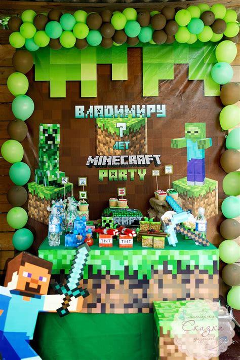 Decoracion de minecraft para fiesta   Piñata de minecraft ...