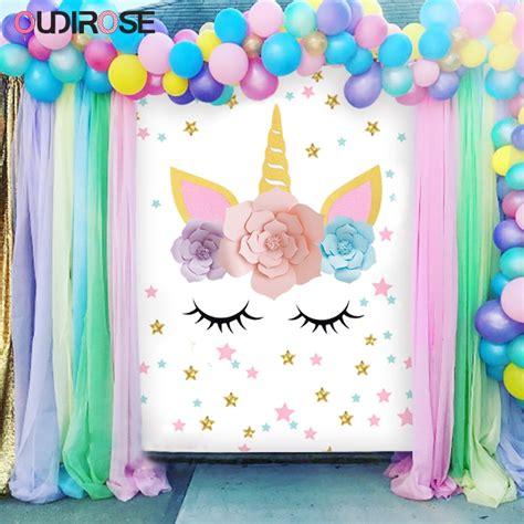Decoración de papel de Unicornio con diseño de cuerno de ...