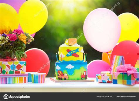 Decoración Fiesta Cumpleaños Niños Colorido Pastel Con ...