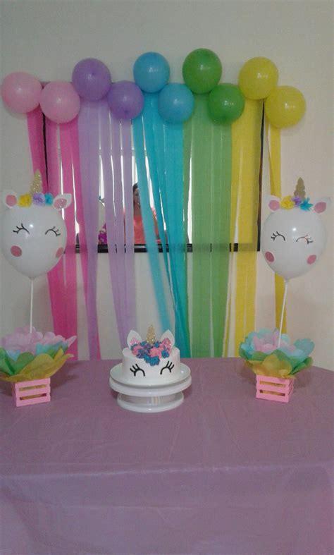 Decoración fiesta de unicornio | Decoracion unicornio ...