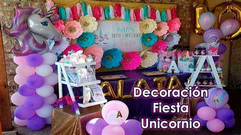 Decoración Fiesta Unicornio   decoracion para fiestas