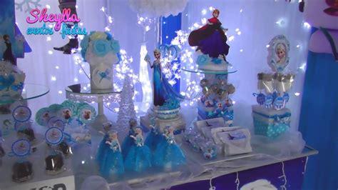 Decoración Frozen, Mesa de dulces temática, bocaditos ...
