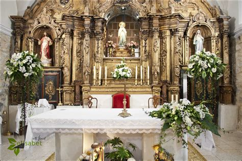 Decoración Iglesia de Castrodeza altar boda