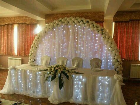 Decoración mesa principal   Arco de ceremonia de boda ...