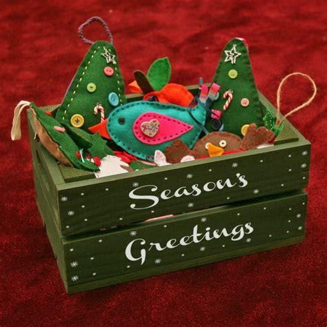 Decoración navideña con cajas de madera. Navidad DIY.
