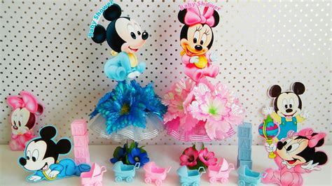 Decoracion Para Baby Shower De Baby Mickey & Minnie Mouse ...