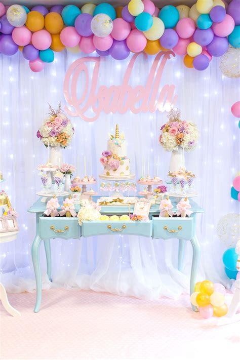 decoracion para cumpleaños de unicornios  14    Decoracion ...