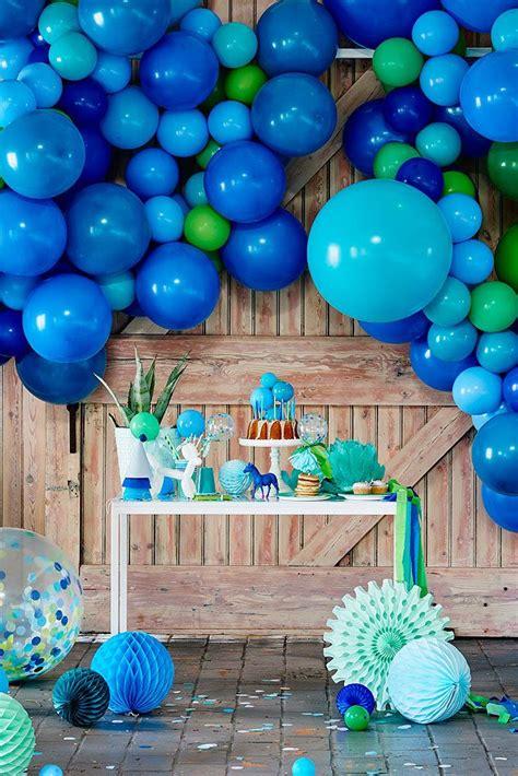 Decoración para fiesta de cumpleaños infantil con globos ...