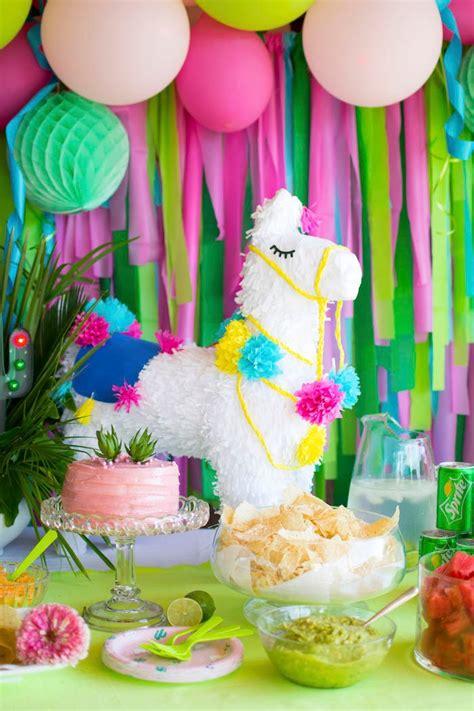 Decoración para fiesta de cumpleaños temático de llamas o ...
