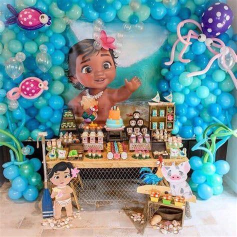 Decoracion para fiesta infantil temática moana bebe ...
