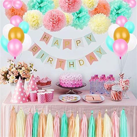 Decoraciones De Cumpleaños Para Niñas, Kit De Flores Pom ...