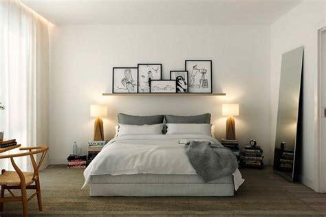 Decorar con estantes sobre la cama | Dormitorios ...