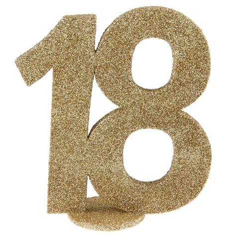 Décoration chiffre anniversaire 18 ans   or