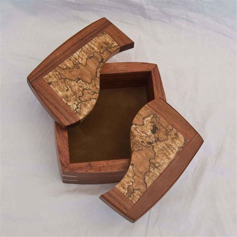 Decorative Trinket Boxes Handcrafted of Exotic Woods