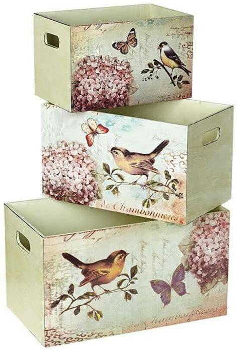 Decoupage. Cajas con pajaritos | Cuadro decoupage, Cajas ...