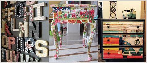 Decoupage en madera de moda en decoración.