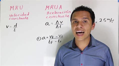 Deducción de fórmulas en: MRU Y MRUA  MRUV    YouTube