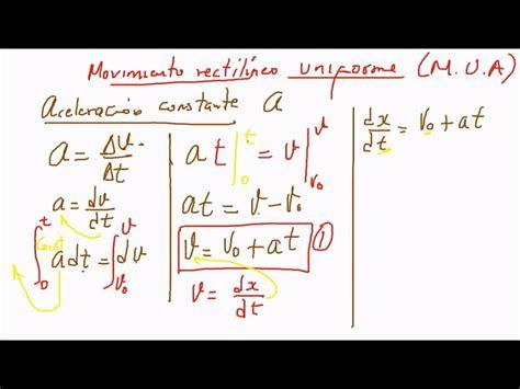 Deducción de las ecuaciones del M. U. A.   YouTube