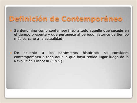 Definición de contemporáneo