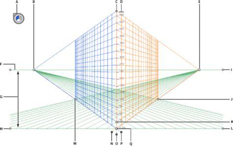 Definición de cuadrículas de perspectiva en Illustrator