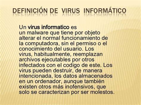 Definición de virus informático  monica y marlon