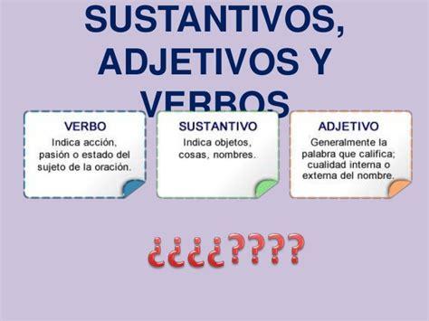 Definir sustantivos, adjetivos y verbos