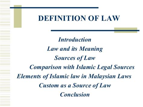 Definition of law_1 _jurisprudence