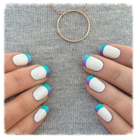 Degradado Francés.   French manicure with a twist ...