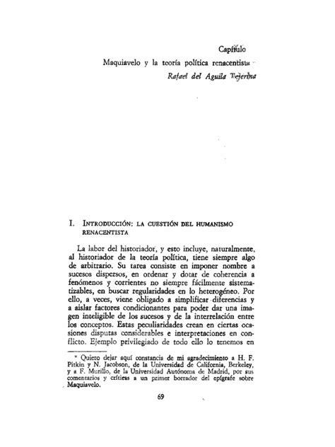 DEL ÁGUILA   Maquiavelo y La Teoría Política Renacentista ...