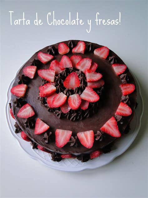 Delicious i Cupcakes: Tarta de Chocolate y fresas ...