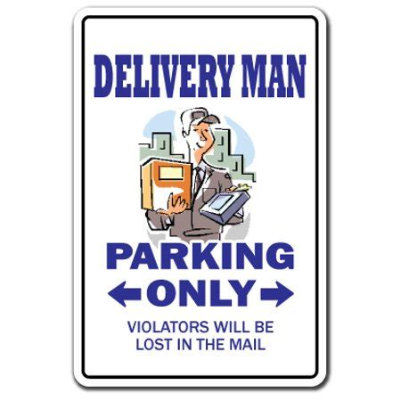 DELIVERY MAN Decal deliver job package UPS FEDEX United ...