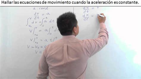 Demostración de las ecuaciones de Cinemática.   YouTube