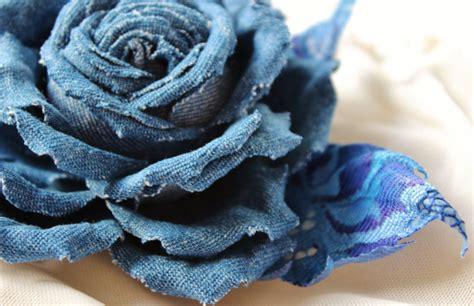 Denim flower brooch, denim wedding   PresentPerfect ...